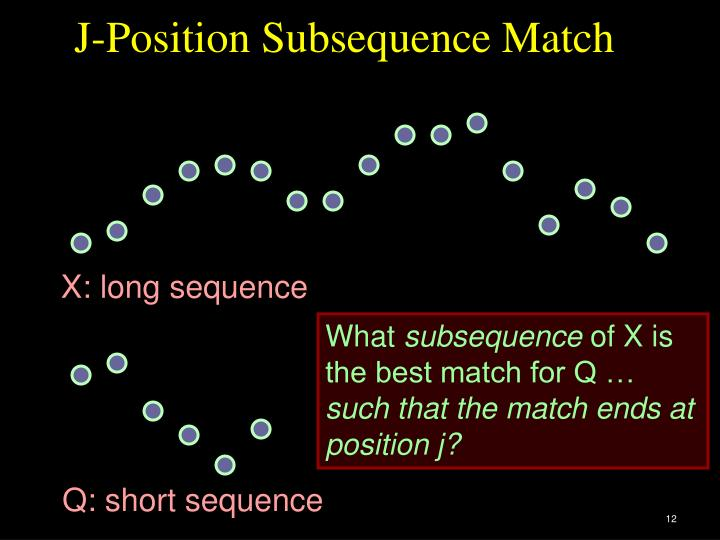 J-Position Subsequence Match