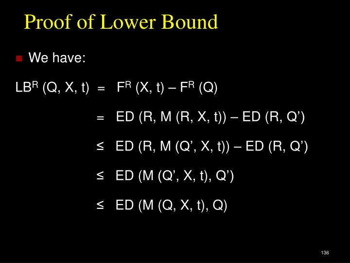 Proof of Lower Bound
