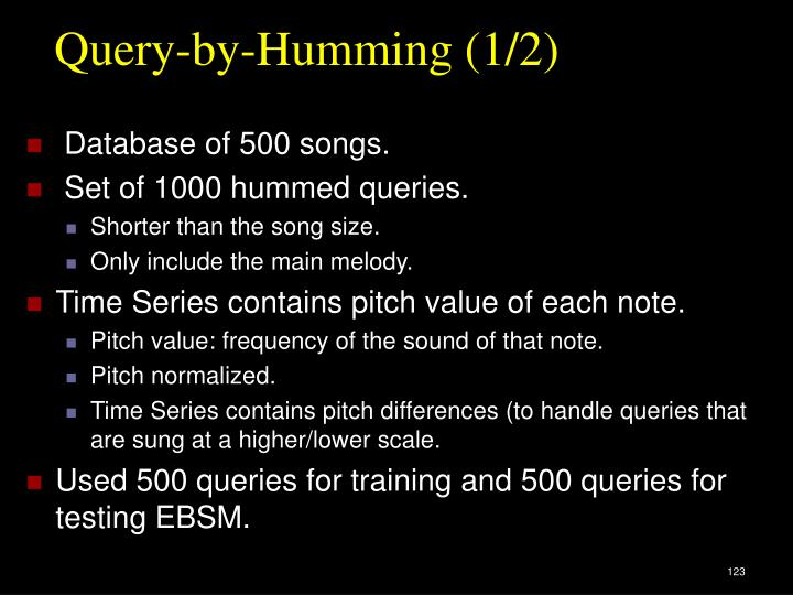 Query-by-Humming (1/2)