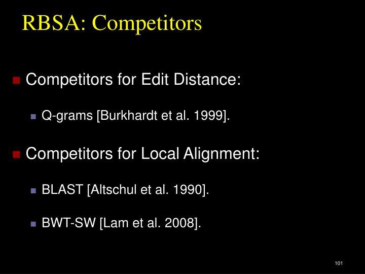 RBSA: Competitors