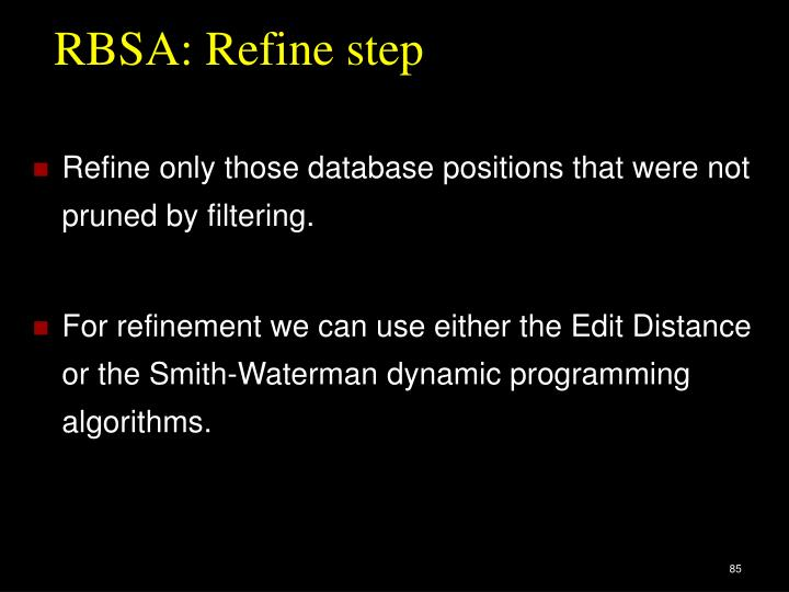 RBSA: Refine step
