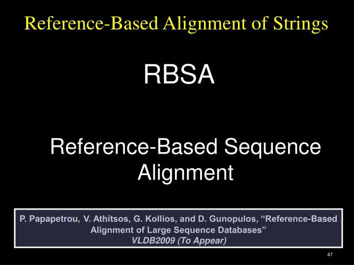 Reference-Based Alignment of Strings