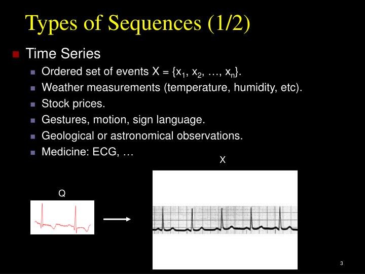 Types of Sequences (1/2)