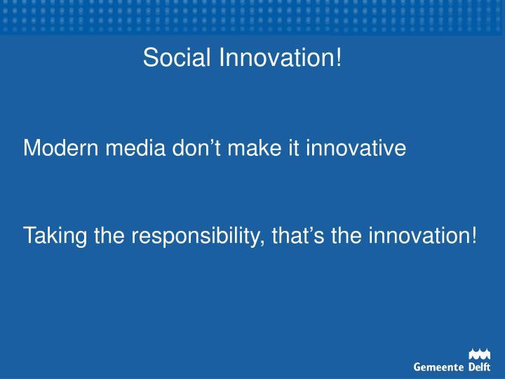 Social Innovation!