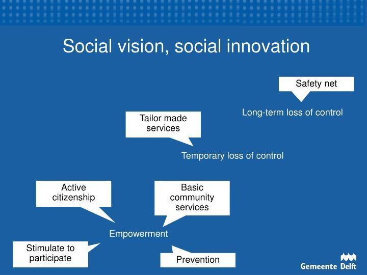 Social vision, social innovation