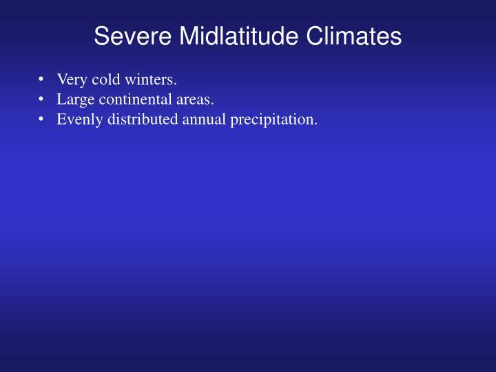 Severe Midlatitude Climates