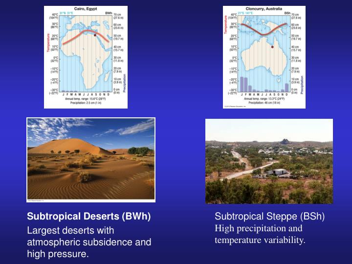 Subtropical Deserts (BWh)