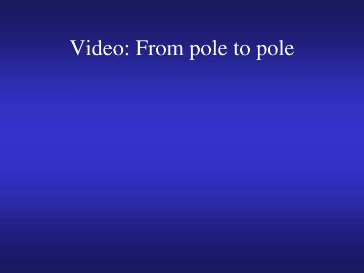 Video: From pole to pole