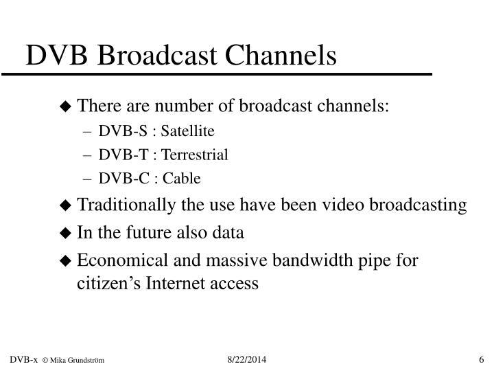 DVB Broadcast Channels
