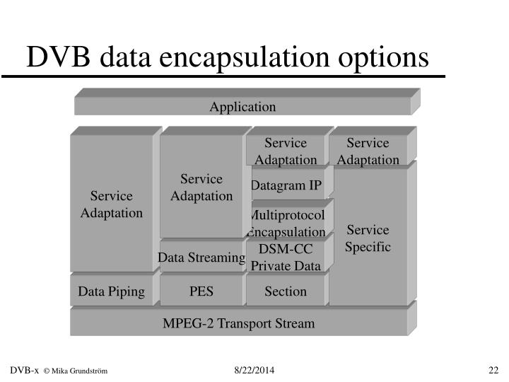 DVB data encapsulation options