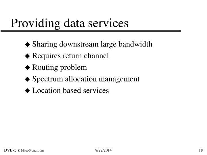 Providing data services