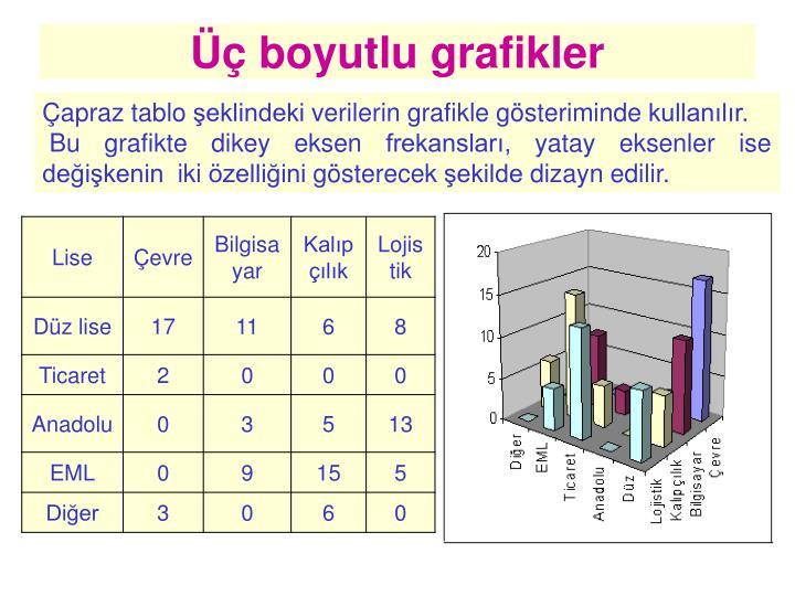 Üç boyutlu grafikler