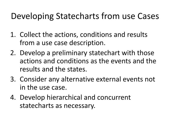 Developing Statecharts from use Cases