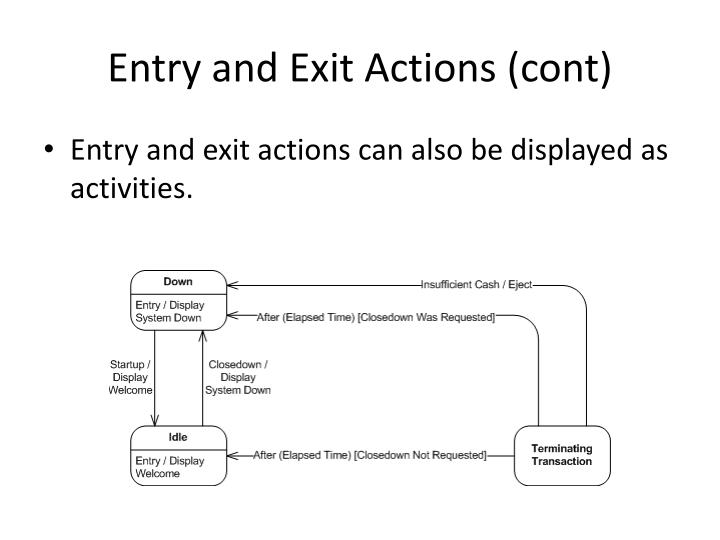 Entry and Exit Actions (cont)