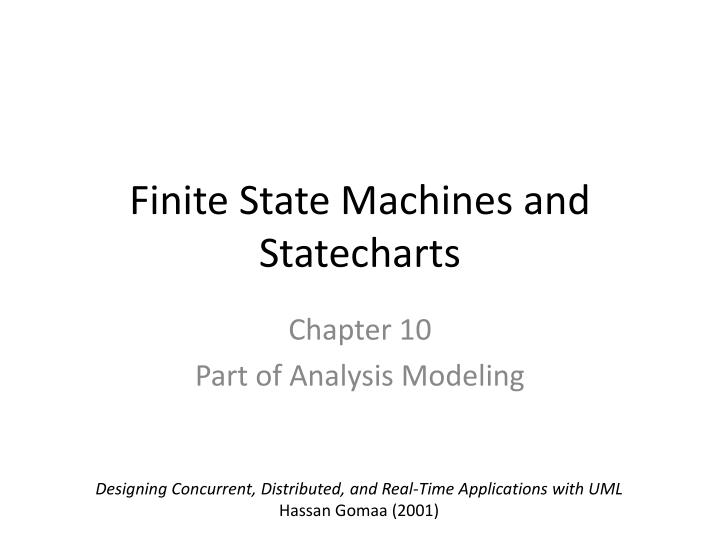 finite state machines and statecharts