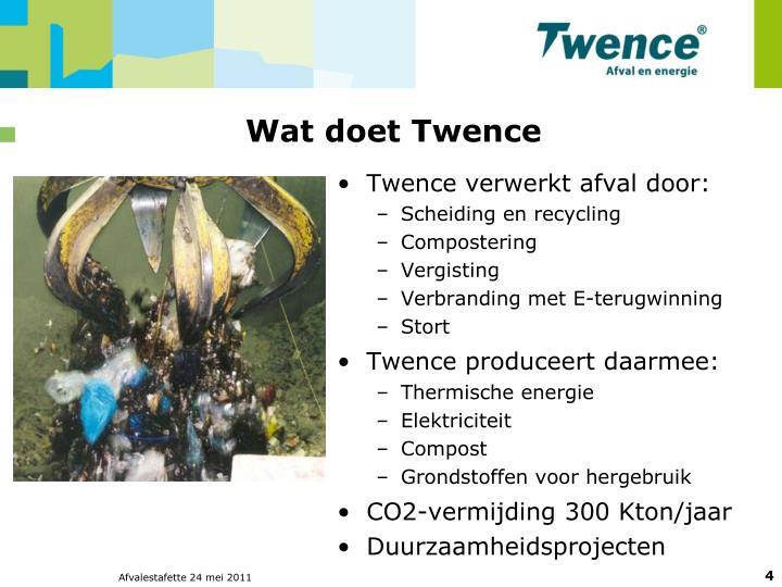 Wat doet Twence