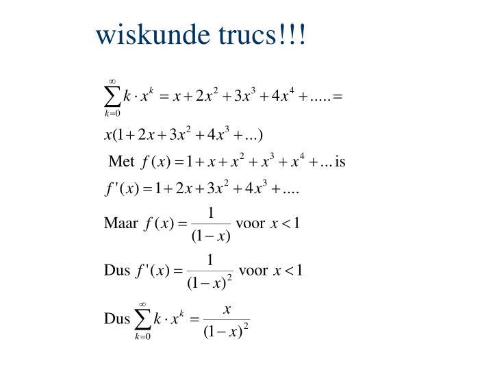 wiskunde trucs!!!