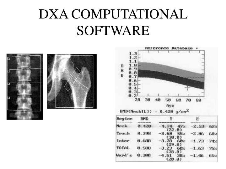 DXA COMPUTATIONAL SOFTWARE