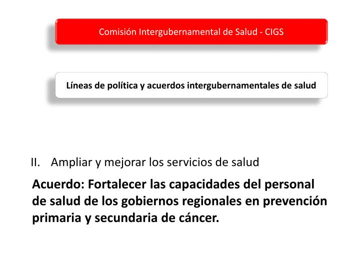 Comisión Intergubernamental de Salud - CIGS