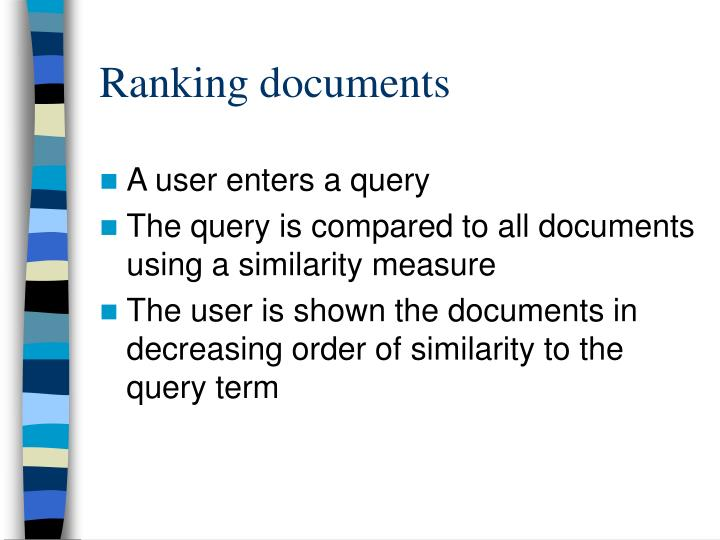 Ranking documents