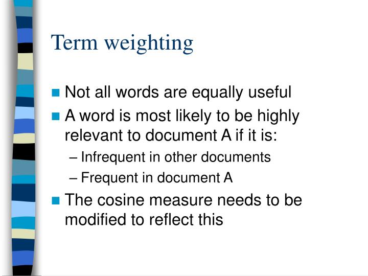 Term weighting