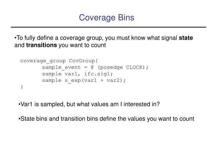 Coverage Bins
