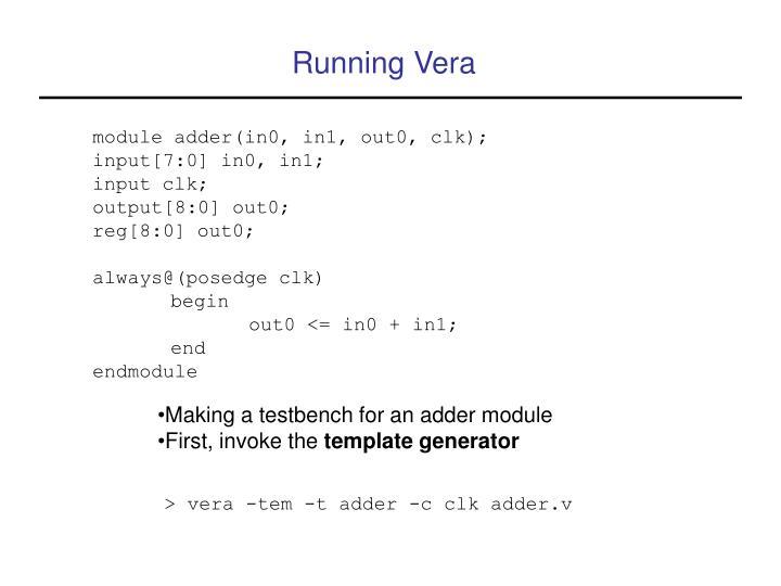 Running Vera