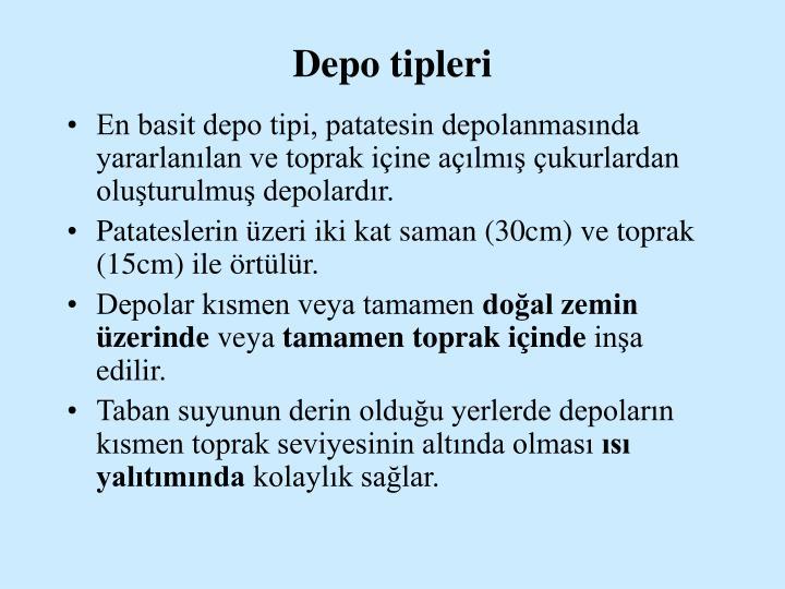 Depo tipleri