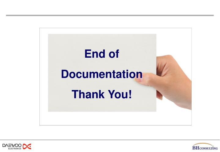 End of Documentation