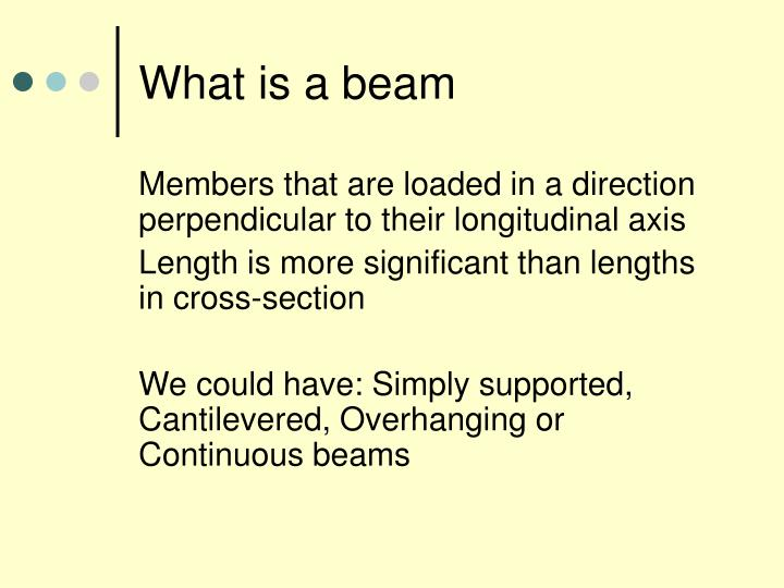 What is a beam