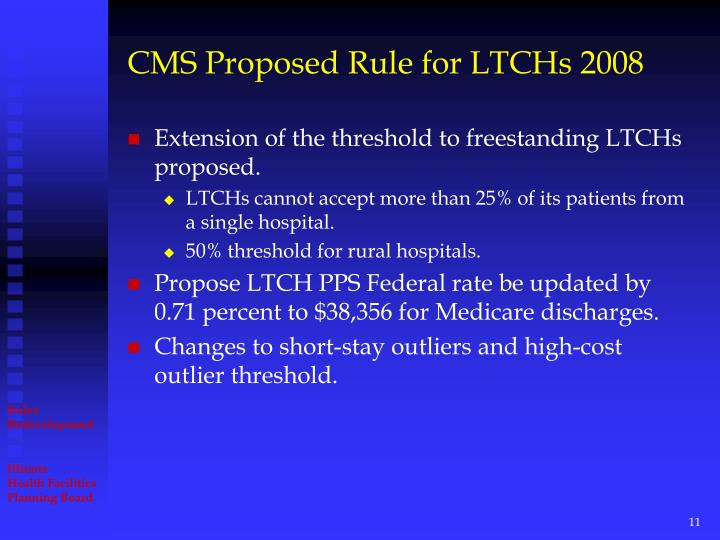 CMS Proposed Rule for LTCHs 2008