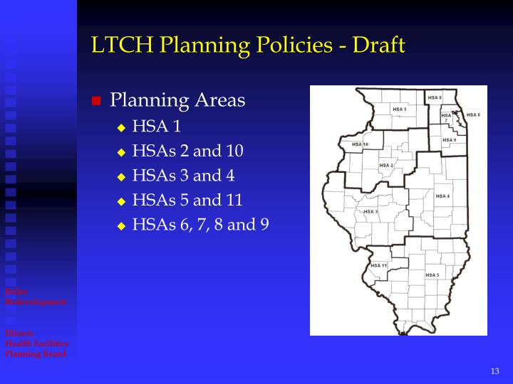 LTCH Planning Policies - Draft