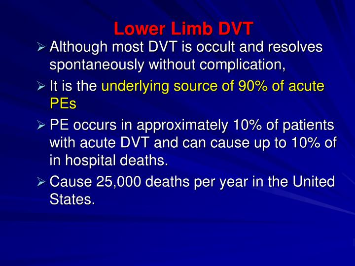 Lower Limb DVT