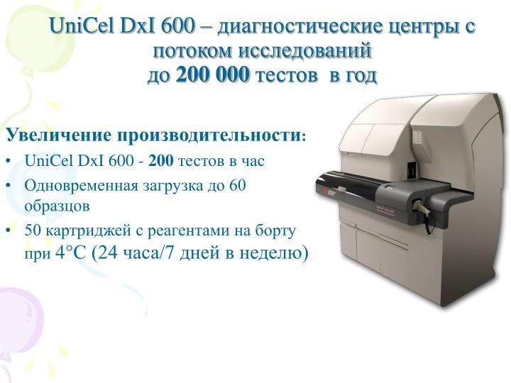 UniCel DxI 600 –