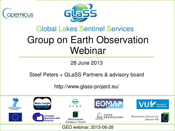 Group on Earth Observation Webinar