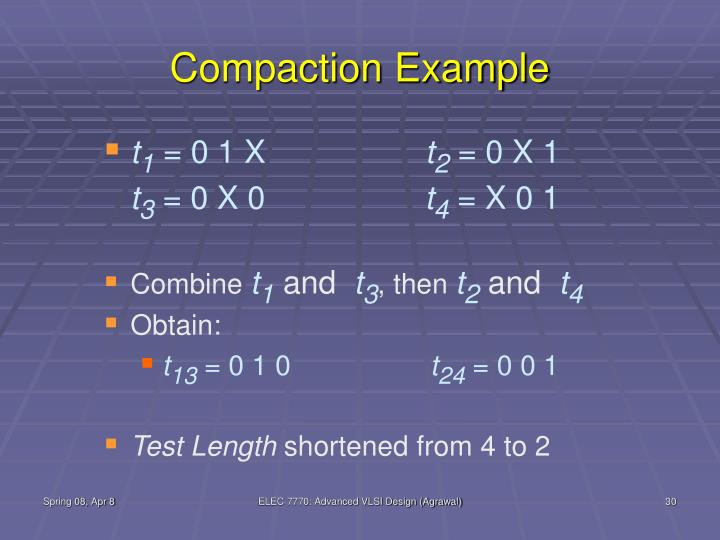 Compaction Example