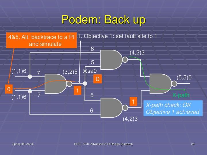 Podem: Back up