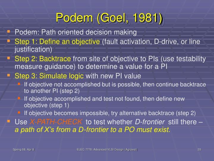 Podem (Goel, 1981)