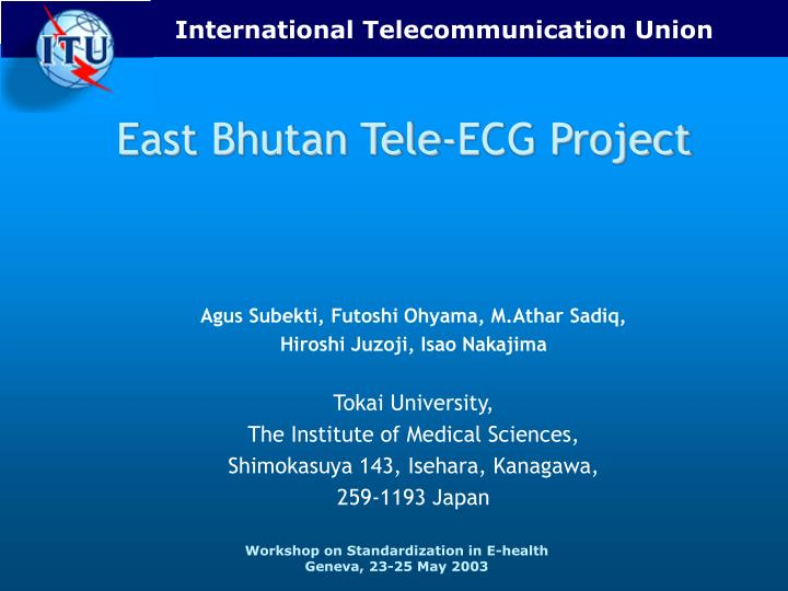 East bhutan tele ecg project