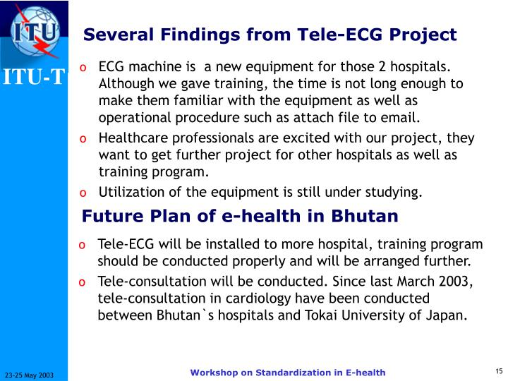 Several Findings from Tele-ECG Project