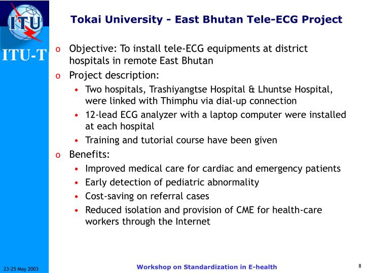 Tokai University - East Bhutan Tele-ECG Project