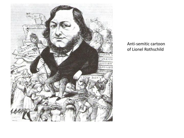 Anti-semitic cartoon of Lionel Rothschild