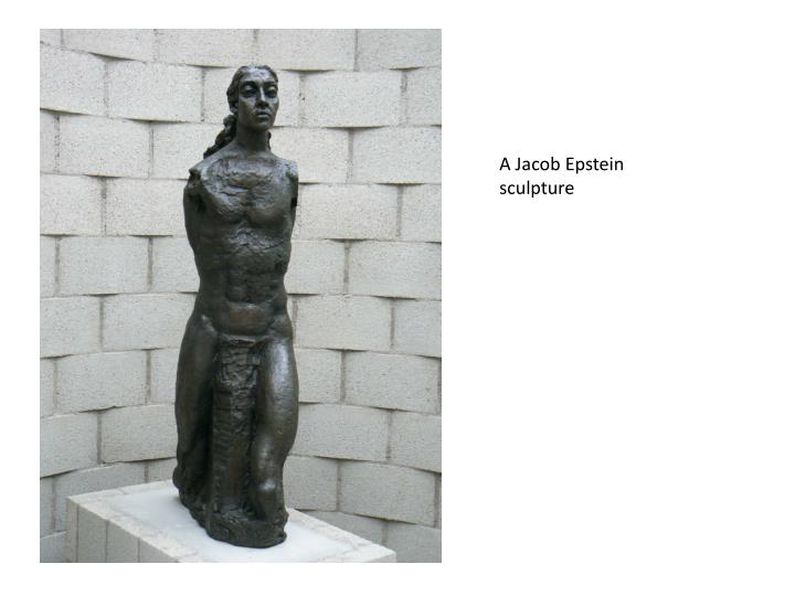 A Jacob Epstein sculpture