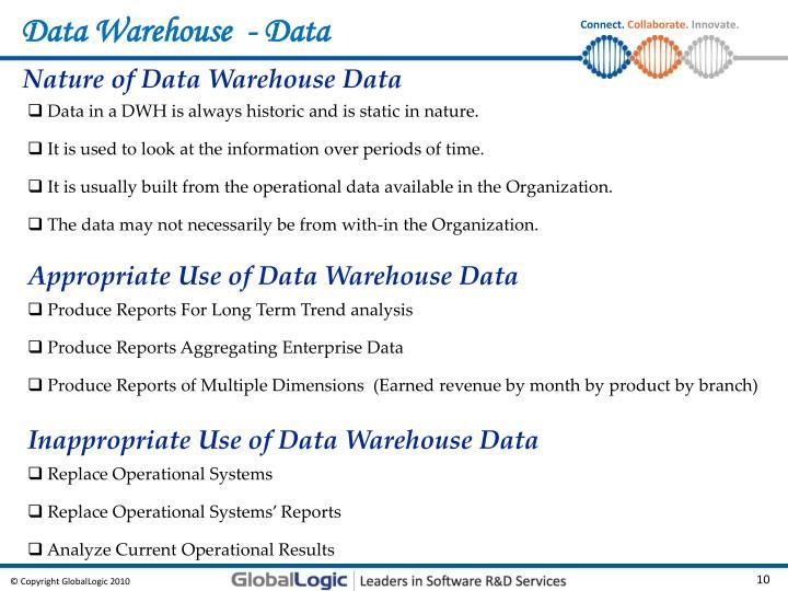 Data Warehouse  - Data