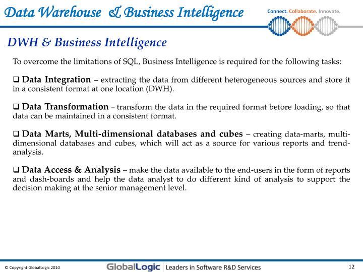 Data Warehouse  & Business Intelligence