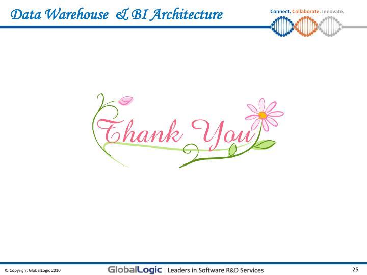 Data Warehouse  & BI Architecture