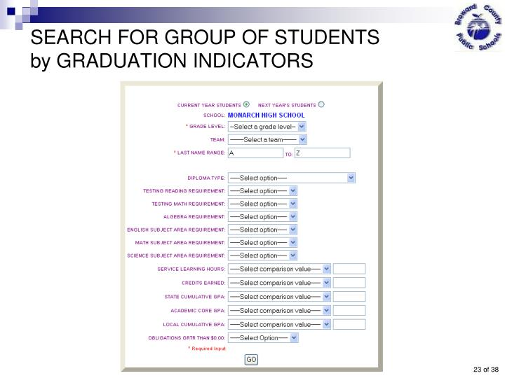 SEARCH FOR GROUP OF STUDENTS