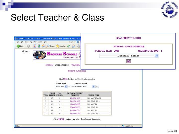 Select Teacher & Class