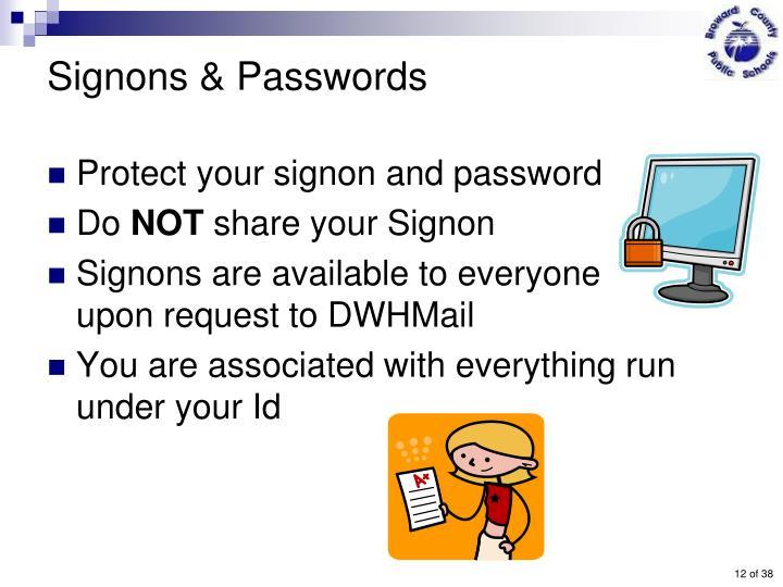 Signons & Passwords