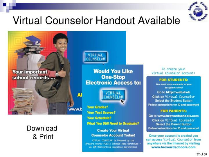 Virtual Counselor Handout Available